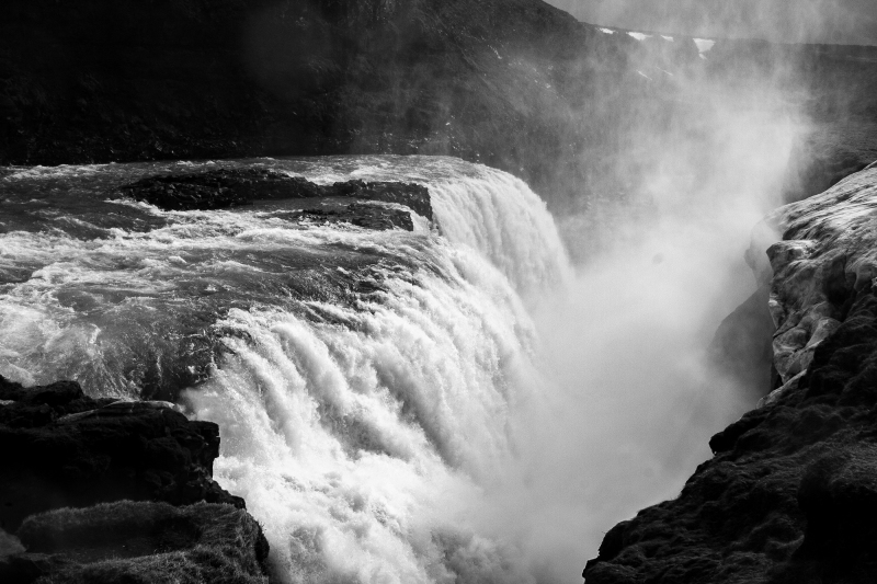 <p>Gullfoss waterfall, located in the canyon of the Hvítá river in southwest Iceland.</p>
