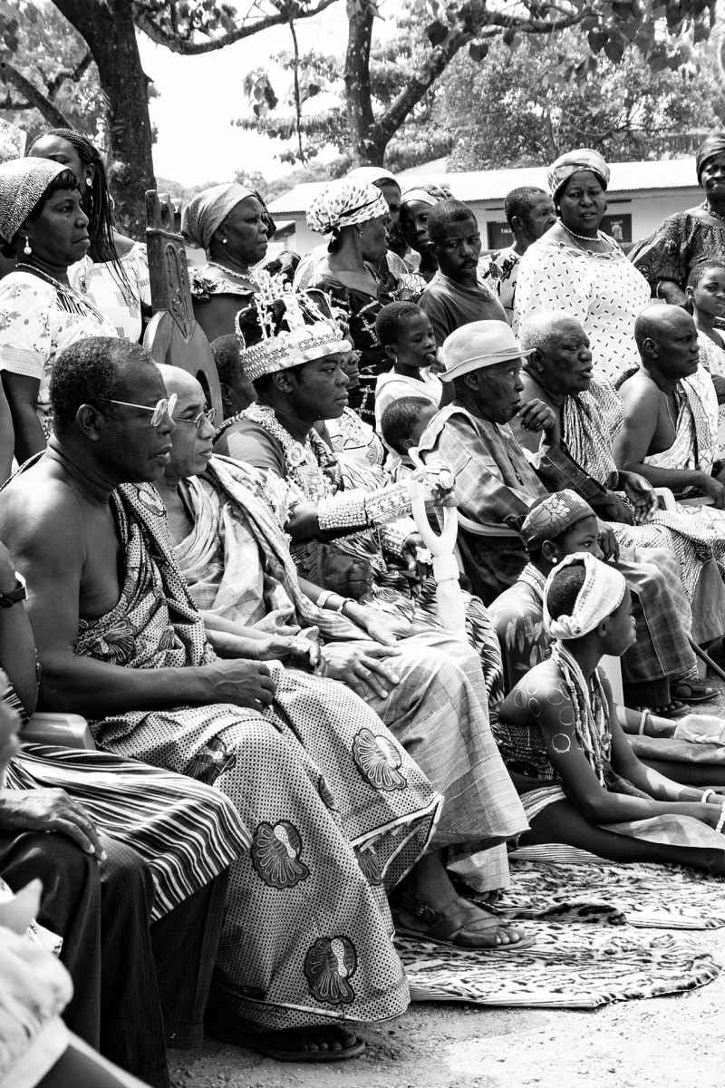 <p>King Togbui Ngoryifia Céphas Kosi Bansah with part of his retinue during an official ceremony in Hohoe, Ghana. In 2010 I had the opportunity to visit his tribe in the Volta Region together with him for the first time.</p>