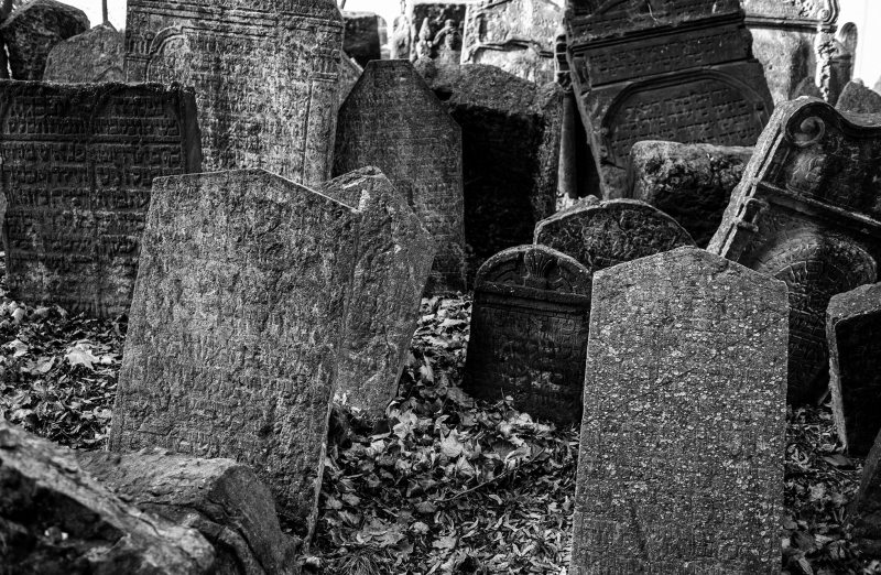 <p>The old Jewish cemetery, Prague, Czech Republic.</p>