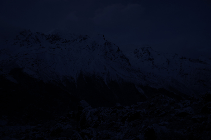 <p>3:55 am at Langtang valley, Nepal.</p>