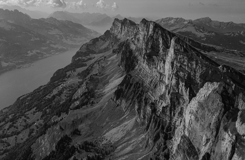 <p>Unique mountain scenery of the Churfirsten with a view of Lake Walen, Switzerland.</p>