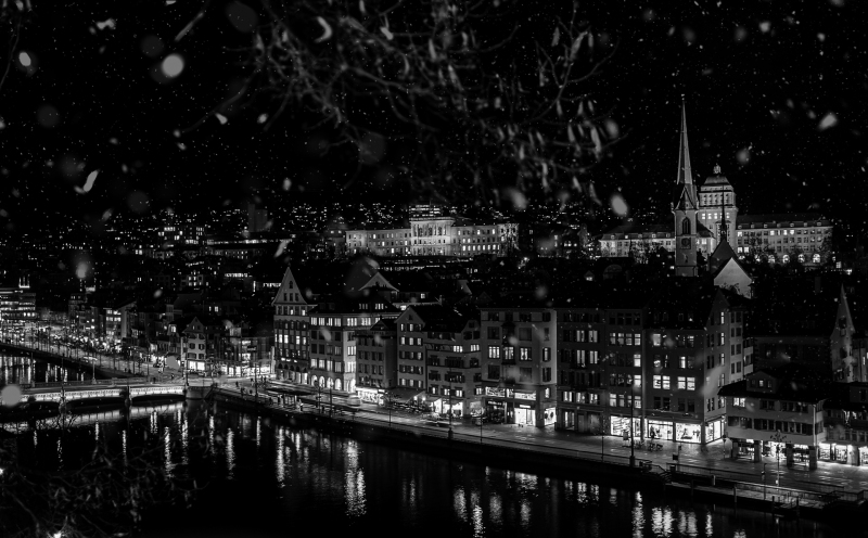 <p>First snow in Zurich in 2018, Zurich, Switzerland.</p>
