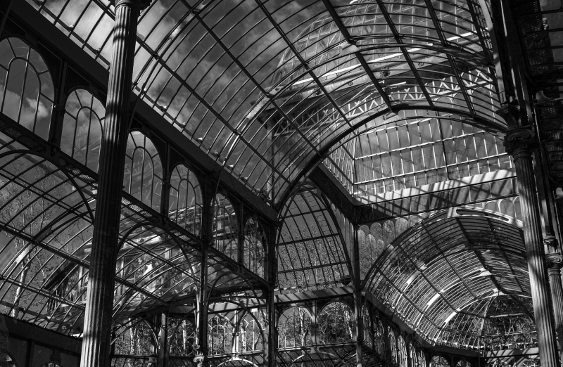 "<p>""Palacio de Cristal"" in Madrid, Spain.</p>"