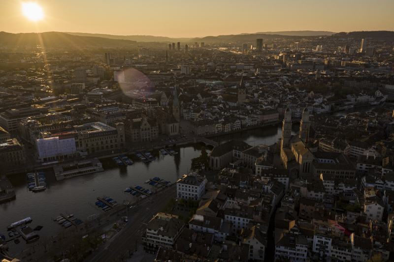 <p>Zurich during Corona lockdown, 2020. Switzerland</p>