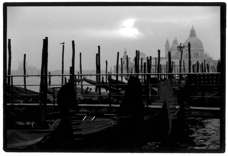 <p>Venice with my pinhole camera. </p> <p>This picture is 1 of 9 (!) pictures I took during my whole stay in Venice in 1999. </p> <p>I know it sounds silly to take only 9 pictures in total, but the thousands of mobile phone pictures you take nowadays don't look any better. </p>