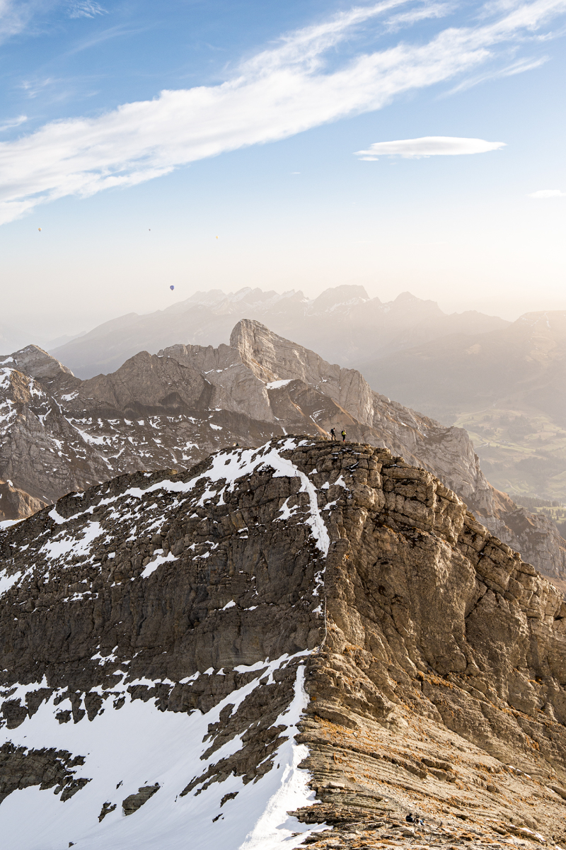 <p>The highest mountain in eastern Switzerland, the Säntis, even if only 2502m high, but with an exceptional view of the surrounding Alps. </p>