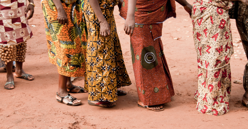 <p>Colorful and beautiful traditional garments Hohoe, Volta Region, Ghana. </p>