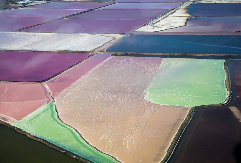 <p>View from the Cessna. <br />The colorful Salt Fields at the Skeleton Coast, Namibia.</p>